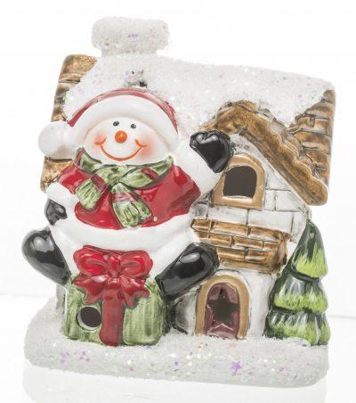 Domek świąteczny z mikołajem led